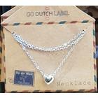 GO-DUTCH LABEL Go Dutch Label Necklace Mini Sphere Heart Silver colored