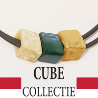 CUBE COLLECTION CUBES COMBINATION GREEN 006