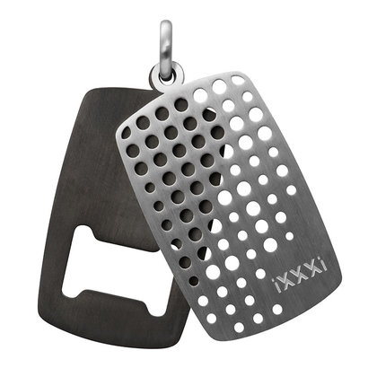 iXXXi JEWELRY MEN iXXXi JEWELRY MEN HANGER OPENER MAT SILVER STAAL