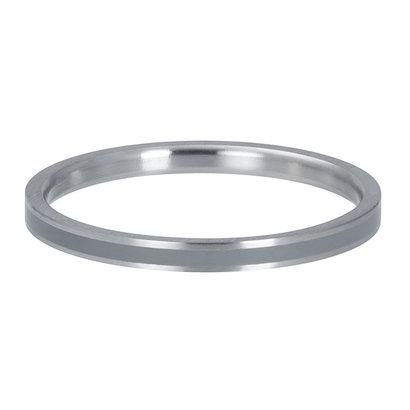 iXXXi JEWELRY iXXXi Washer 0.2 cm Line Gray in matt silver stainless steel
