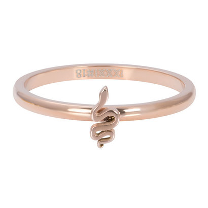 iXXXi JEWELRY iXXXi Vulring 2mm Snake in  rosegoud stainless staal