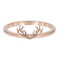 iXXXi JEWELRY iXXXi Vulring 2mm. Antlers Stainless steel Rosegoud