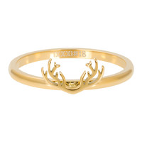 iXXXi JEWELRY iXXXi Washer 2mm. Antlers Stainless steel Gold
