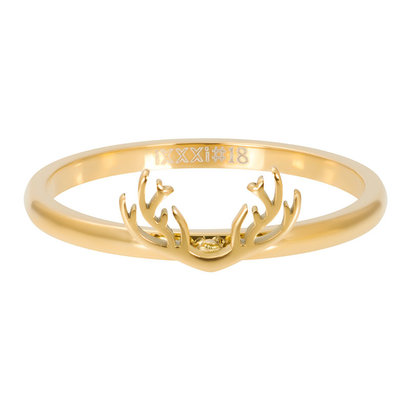 iXXXi JEWELRY iXXXi Vulring 2mm Antlers in  Goud stainless staal