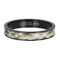 iXXXi JEWELRY iXXXi Vulring 4mm Python Stainless steel Zwart