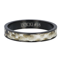 iXXXi JEWELRY iXXXi Washer 4mm Python Stainless steel Black