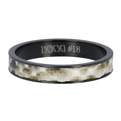 iXXXi JEWELRY iXXXi Vulring 4mm  Python Zwart  stainless staal