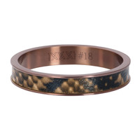 iXXXi JEWELRY iXXXi Vulring 4mm Leopard Stainless steel Bruin
