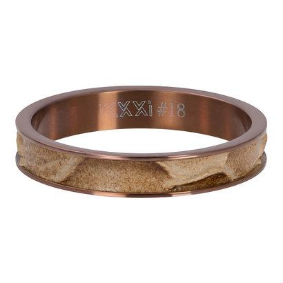 iXXXi JEWELRY iXXXi Washer 4mm Crocodile Brown stainless steel