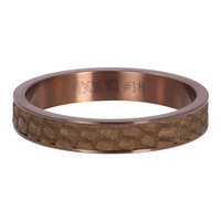 iXXXi JEWELRY iXXXi Vulring 4mm Cobra Stainless steel Bruin