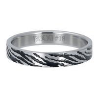 iXXXi JEWELRY iXXXi Washer 4mm ZEBRA Stainless steel Silver