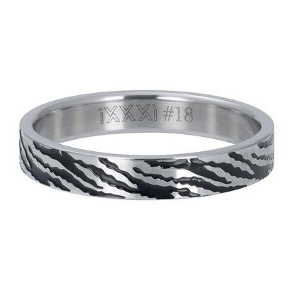 iXXXi JEWELRY iXXXi Washer 4mm Zebra Silver colored stainless steel