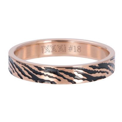 iXXXi JEWELRY iXXXi Washer 4mm Zebra Rose gold colored stainless steel