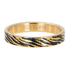 iXXXi JEWELRY iXXXi Washer 4mm ZEBRA Stainless steel Gold