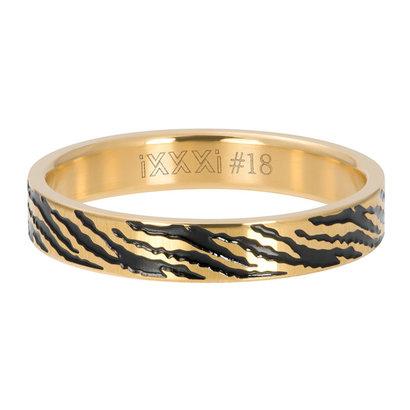 iXXXi JEWELRY iXXXi Washer 4mm Zebra Gold colored stainless steel