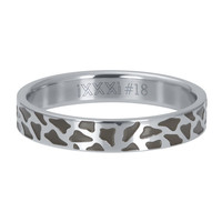 iXXXi JEWELRY iXXXi Vulring 4mm PANTER Stainless steel Silver