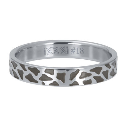 iXXXi JEWELRY iXXXi Washer 4mm PANTER Silver colored stainless steel