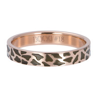 iXXXi JEWELRY iXXXi Vulring 4mm PANTER Stainless steel Rosegoud