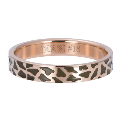 iXXXi JEWELRY iXXXi Vulring 4mm  PANTER Rosegoudkleurig  stainless staal