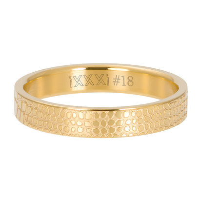 iXXXi JEWELRY iXXXi Vulring 4mm  GIRAFFE Goud  stainless staal