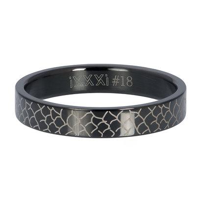 iXXXi JEWELRY iXXXi Washer 4mm Snake Black stainless steel