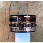 IXXXI JEWELRY RINGEN iXXXi KOMBINATIONSRING 14mm SCHWARZ 10573