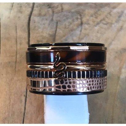 IXXXI JEWELRY RINGEN iXXXi COMBINATION RING 14mm BLACK 1073 SNAKE
