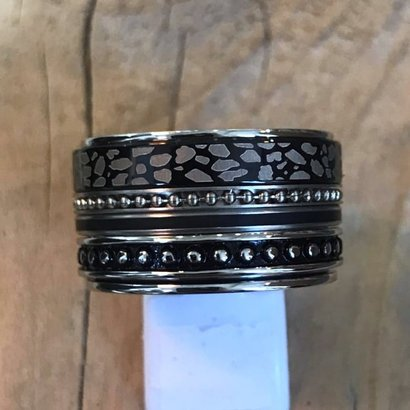 IXXXI JEWELRY RINGEN iXXXi COMBINATION RING 14mm SILVER 1074 BLACK PANTER