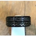 IXXXI JEWELRY RINGEN iXXXi COMBINATION RING 10mm BLACK 1075