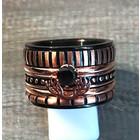 IXXXI JEWELRY RINGEN iXXXi COMBINATIE RING 16mm ZWART 1076
