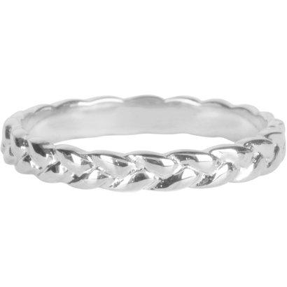 CHARMIN'S Charmins Braided Shiny Zilver steel  R785  van het fashion sieradenmerk Charmin's.