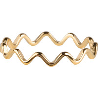 CHARMIN'S Charmins ring Wave Shiny Steel Goud