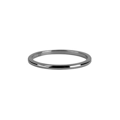 CHARMIN'S Charmins Round Basic Shiny Silver steel  R634  van het fashion sieradenmerk Charmin's.