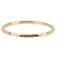 CHARMIN'S Charmins Ring Kleine Basics Gravur Shiny Steel Gold