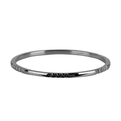 CHARMIN'S Charmins Small basics 6 Triple Engraving  Shiny Silver steel  R737  van het fashion sieradenmerk Charmin's.