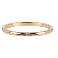 CHARMIN'S Charmins Ring aus edlem, glänzendem Stahlgold