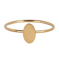 CHARMIN'S Charmins ring Minimalist Shiny Steel Gold
