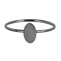 Charmins ring Minimalist Shiny Steel Silver