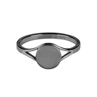 CHARMIN'S Charmins ring Musthave 2.0  Shiny Steel Silver