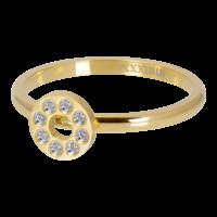 IXXXI JEWELRY RINGEN iXXXi Unterlegscheibe 2mm. Flat Circle Crystal Stone Vergoldeter Edelstahl