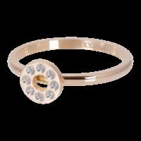 IXXXI JEWELRY RINGEN iXXXi Unterlegscheibe 2mm. Flat Circle Crystal Stone Rose vergoldet Edelstahl