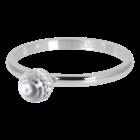 IXXXI JEWELRY RINGEN iXXXi Unterlegscheibe 2mm. Kristallglaskugel Silberfarbener Stainles-Stiel