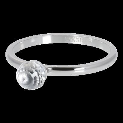 IXXXI JEWELRY RINGEN iXXXi Washer 2mm Kristallglaskugel Silberfarbener Stahl