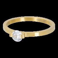 IXXXI JEWELRY RINGEN iXXXi Unterlegscheibe 2mm. Mini Glamour Stone Vergoldeter Stiel aus Edelstahl