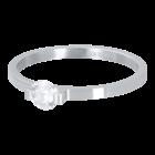 IXXXI JEWELRY RINGEN iXXXi Unterlegscheibe 2mm. Mini Glamour Stone Silberfarbener Stiel aus Edelstahl