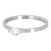 IXXXI JEWELRY RINGEN iXXXi Vulring 2mm. Mini Glamour Stone Zilverkleurig Stainles steel