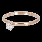 IXXXI JEWELRY RINGEN iXXXi Unterlegscheibe 2mm. Stern Kristallstein Rosé vergoldet Edelstahl