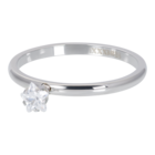 iXXXi JEWELRY iXXXi Unterlegscheibe 2mm. Star Crystal Stone Silberfarbener Stainles-Stiel