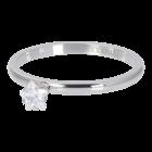 iXXXi JEWELRY iXXXi Vulring 2mm. Star Crystal Stone Zilverkleurig Stainles steel