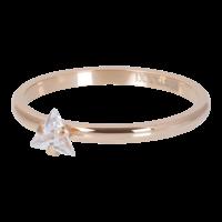 IXXXI JEWELRY RINGEN iXXXi Unterlegscheibe 2mm. Dreieck Crystal Stone Rose vergoldet Stainles Stiel